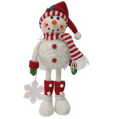 holiday living nordic noel yarn wrapped snowman tabletop christmas decoration - Lowes Christmas Decorations