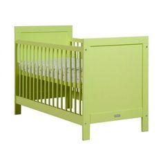 Lettino di colore lime verde realizzato in legno dal design semplice ed elegante della popolare serie Mix della casa olandese Bopita.