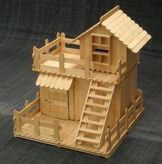 2 story popsicle stick house