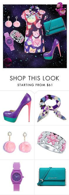"""galaxy cat"" by looksnlooks on Polyvore featuring Topshop, Brian Atwood, Emilio Pucci, Nixon and MICHAEL Michael Kors"