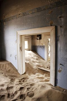 Most Dark And Mysterious Places On Earth Kolmanskop, Namibia : A former diamond mining town in the Namib Desert where geological forces have buried many houses in sand.Buried Alive Buried alive refers to a premature burial. Buried Alive may also refer to: Abandoned Buildings, Abandoned Places, Mysterious Places On Earth, Witches Of East End, Namib Desert, Exotic Places, Another World, Belle Photo, Places To Go