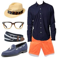 """Orange and Blue """"go together."""" Men, time to pull it together and look Fabulous! Gainesville Men won't know what hit them..."""