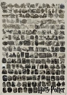 Every Harry Potter chapter illustration. I would love to have this as a poster.