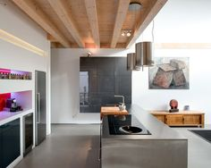 Contemporary Timber House by Stommel Haus UK Cool Ideas, Dream House Interior, Home Interior Design, Kitchen Cabinet Design, Kitchen Interior, Stommel Haus, Timber House, Beautiful Kitchens, Contemporary Interior