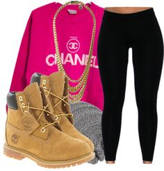 Outfits Mode für Frauen 2019 Cute Outfits with Timberlands Timberland Outfits Winter, Timberland Stiefel Outfit, Winter Outfits, Timberland Style, Timberland Heels, Timberland Fashion, Timbs Outfits, Cute Swag Outfits, Dope Outfits