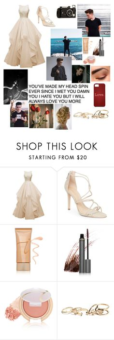 """""""Red Carpet with Zach Herron """" by alisa-avery ❤ liked on Polyvore featuring Schutz, Jane Iredale, Love Shop and GUESS"""