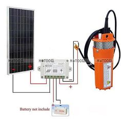 160W Solar Panel+ 12V Deep Well Solar Power Water Pump for Irrigation Ranch Farm in Home & Garden, Home Improvement, Electrical & Solar   eBay