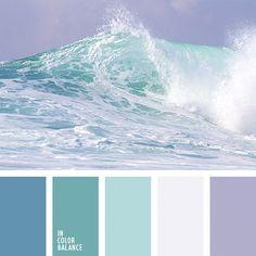 Craft room colors palette grey 29 ideas for 2019 Colour Pallette, Colour Schemes, Color Combos, Ocean Color Palette, Ocean Colors, Beach Color Palettes, Bedroom Color Palettes, Beach Color Schemes, Purple Palette