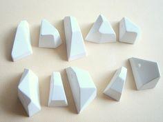 20 Geometric  Pendants Ready To Be Painted, Do it Yourself Geometric Necklace,Geometric Jewelry. $20.00, via Etsy.