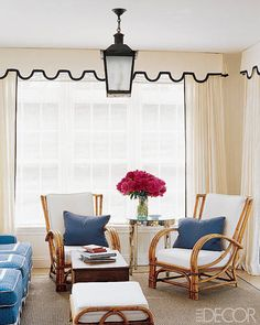 Go beyond basic white curtains with these colorful and pattern-heavy options.