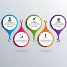Five colorful options for infographics Free Vector Powerpoint Timeline Slide, Powerpoint Slide Designs, Infographic Powerpoint, Powerpoint Free, Powerpoint Design Templates, Professional Powerpoint Templates, Powerpoint Themes, Infographic Templates, Graphic Design Tips