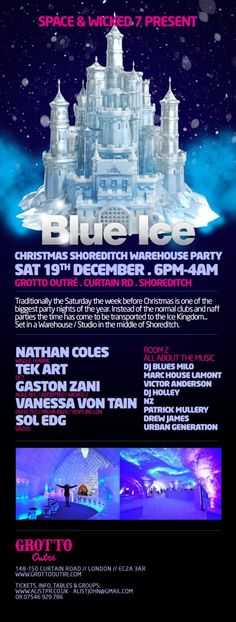 Tickets to Space London Blue Ice party on Saturday 19th December 2015 http://www.residentadvisor.net/event.aspx?777473 Space London presents  Blue Ice Shoreditch Christmas Party Feat. Nathan Coles (Wiggle) #popupparty #shoreditch #london #housemusic #icecave #blueice #christmas #xmas #djs #alistlondon #amorparties