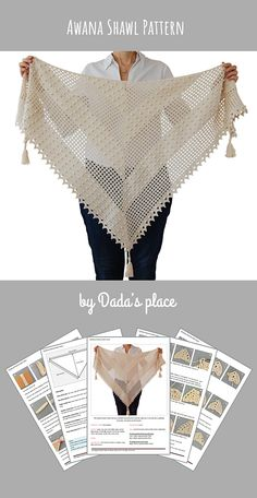 Best 12 The Awana shawl is light and airy, a perfect accessory for a summer night out. It can also be a wedding accessory. The crochet pattern is very detailed with lots of step-by-step pictures. Designed by Dada's place. Ribbed Crochet, Crochet Cape, Crochet Shirt, Crochet Scarves, Crochet Clothes, Crochet Vests, Knitted Shawls, Crochet Wrap Pattern, Crochet Flower Patterns
