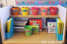 Classroom Reveal and Linky-Surfin' Through Second. Writing Center Preschool, Writing Area, Writing Station, Work On Writing, Writing Table, Kindergarten Writing, Writing Workshop, Teaching Writing, Writing Skills