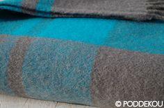 Károvaná deka sivo-modrá