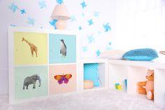 Putzige Origami-Tiere in sanften Pastellfarben | Einrichtungsideen von creatisto Ikea Kallax Regal, Origami Design, Kids Rugs, Home Decor, Little Princess, White Wardrobe, Pastel Colors, Deco, Decoration Home