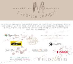 Favorite Things Giveaway from Munchkins and Mohawks!!!