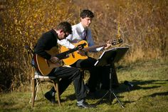 Roger & Jonathan at a local outdoor wedding.  Courtesy of Jared Wilson Photography