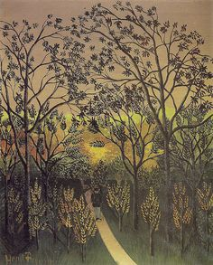 Henri Rousseau Corner of the Plateau of Bellevue hand painted oil painting reproduction on canvas by artist Henri Rousseau Paintings, Norman Rockwell, Art Ancien, Jungle Scene, Oil Painting Reproductions, Art Moderne, Naive Art, Design Museum, French Artists