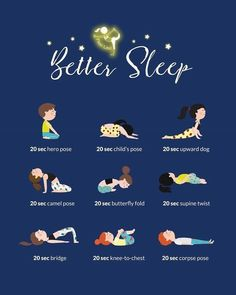 Are you having trouble falling asleep? Try these relaxing yoga poses before bed for a better nights sleep! Be sure to grab a pair of our fabulous leggings or comfy rompers that are so comfortable you can sleep in them! Yoga Fitness, Health Fitness, Health Yoga, Fitness Tips, Yoga Flow, Yoga Meditation, Sleep Meditation For Kids, Meditation Before Bed, Couple Yoga