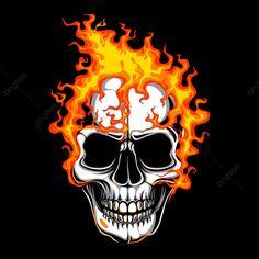 Head skull fire vecto PNG and Vector Illustration Main, Skull Illustration, Skull Fire, Skull Icon, Vector Art, Fire Vector, Retro Vector, Man Vector, Fractal Art