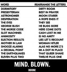 Rearranged words