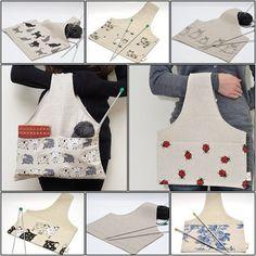 Knitter MINI Project Bag Mystic Owl... Great bag for socks knitters.. $12,99, via Etsy.