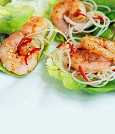 King Prawn Wraps - It is fun and easy to make this healthy dish for parties or even a picnic lunch! www.fishisthedish.co.uk/recipes/king-prawn-wraps 5000 pinners agree cannot stop eating these delicacies