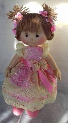 Little ballerina doll, doll angel, fairy Pretty Dolls, Cute Dolls, Beautiful Dolls, Ballerina Doll, Little Ballerina, Doll Crafts, Diy Doll, Doll Toys, Baby Dolls