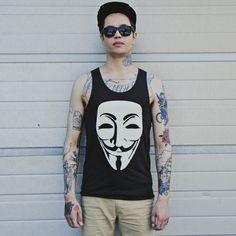 Anonymous top for Guys in dark gray! #cybershop #alternativestyle #undergroundfashion #mensfashion