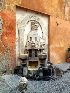 Public Drinking Water Fountain, Via Margutta, Rome