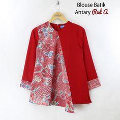 Batik Blazer, Blouse Batik, Batik Dress, Batik Fashion, Hijab Fashion, Blouse Patterns, Blouse Designs, Batik Kebaya, Casual Formal Dresses