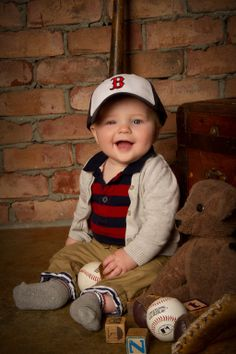 """""""Baseball Baby"""" by Portrait Creations photography studio in Charlotte, NC."""