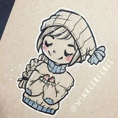 regram @winklebeebee August 7th #dailydrawing [Chill]. #art #artstagram #drawing #illustration #sketch #sketchbook #doodle #ink #quicksketch #winter #design #instaart #igdraws #creative_instaarts #sketch_daily #abeautifulmessapp