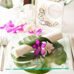 結婚式場写真「【テーブルコーディネート】リゾート感溢れるテーブルセッティング」 【みんなのウェディング】