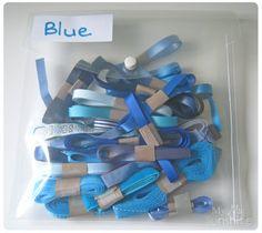 Ribbon Storage Organization