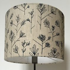 Lampshade hand printed in 'Olive Branch' print and handmade in England. Textile Prints, Textiles, England, Printed, Handmade, Design, Home Decor, Hand Made, Decoration Home