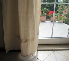 Ivory Ecru Rustic CURTAIN panels washed natural by nurdanceyiz, $80.00