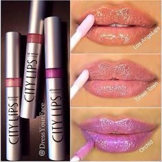 3 shades  of City Lips. #citycosmetics #citylips