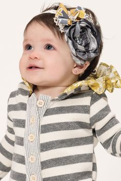 Persnickety October Sky Layette Lyla Headband – Posh Closet Children's Boutique