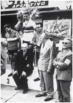 Campionato de Mondo 1961, Berna, 3 settembre. Il podio: Rik Van Looy (1933) 1°, Nino Defilippis (1932-2010) 2°, Raymond Poulidor (1936) 3°
