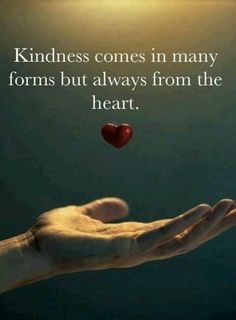 In kindness we touch a world in love..
