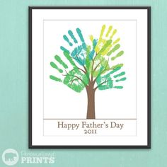DIY Father's Day family tree.