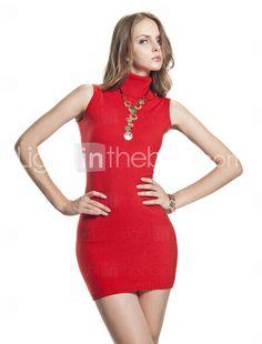 A mini dress w/ a turtleneck...gotta love it!