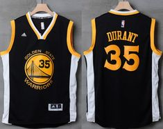 30bc9569b Warriors  35 Kevin Durant Black White Stitched NBA Jersey Warriors Gear