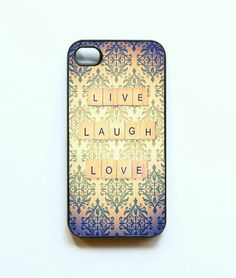 Iphone Case Live Laugh Love Vintage Quote by SSCphotographycases