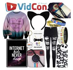 """""""VidCon Outfit"""" by anna-mirra on Polyvore featuring Disney, Melie Bianco, Glamorous and Oakley"""