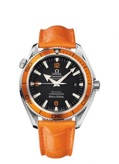 2909.50.48  : Omega Seamaster Planet Ocean 600M Co-Axial 42mm Orange / Alligator / Ladies