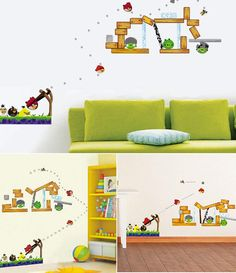 Angry Birds Wall Decals  (Removable DIY Wall Stickers Art)