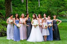 Amsale #Bridesmaids | Pretty Color Palette | On ... | Bridesmaid Dres…